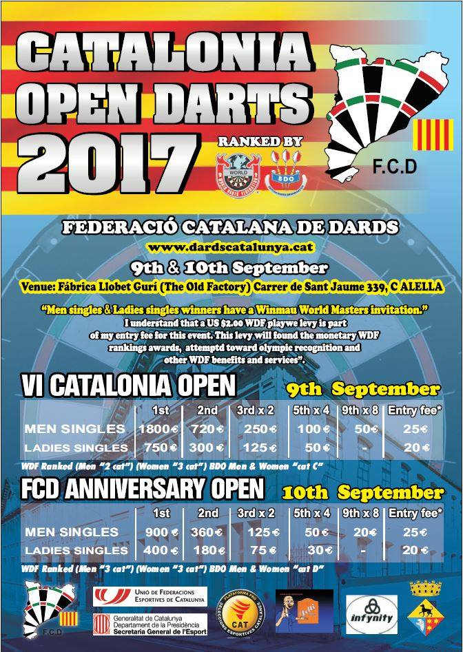 Catalonia Open 2017 + FCD Anniversary Open 2017